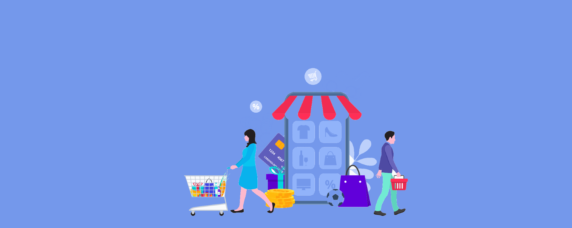 shoppers and digital storefront to illustrate ecommerce erp integration